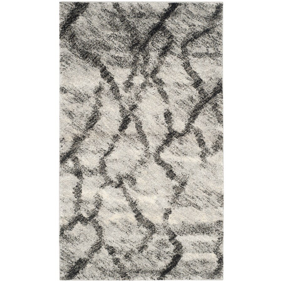 Safavieh Retro Mopani Gray/Black Indoor Distressed Area Rug (Common: 4 x 6; Actual: 4-ft W x 6-ft L)
