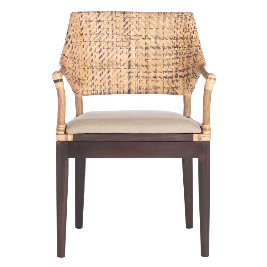 Safavieh Carlo Coastal Honey Accent Chair