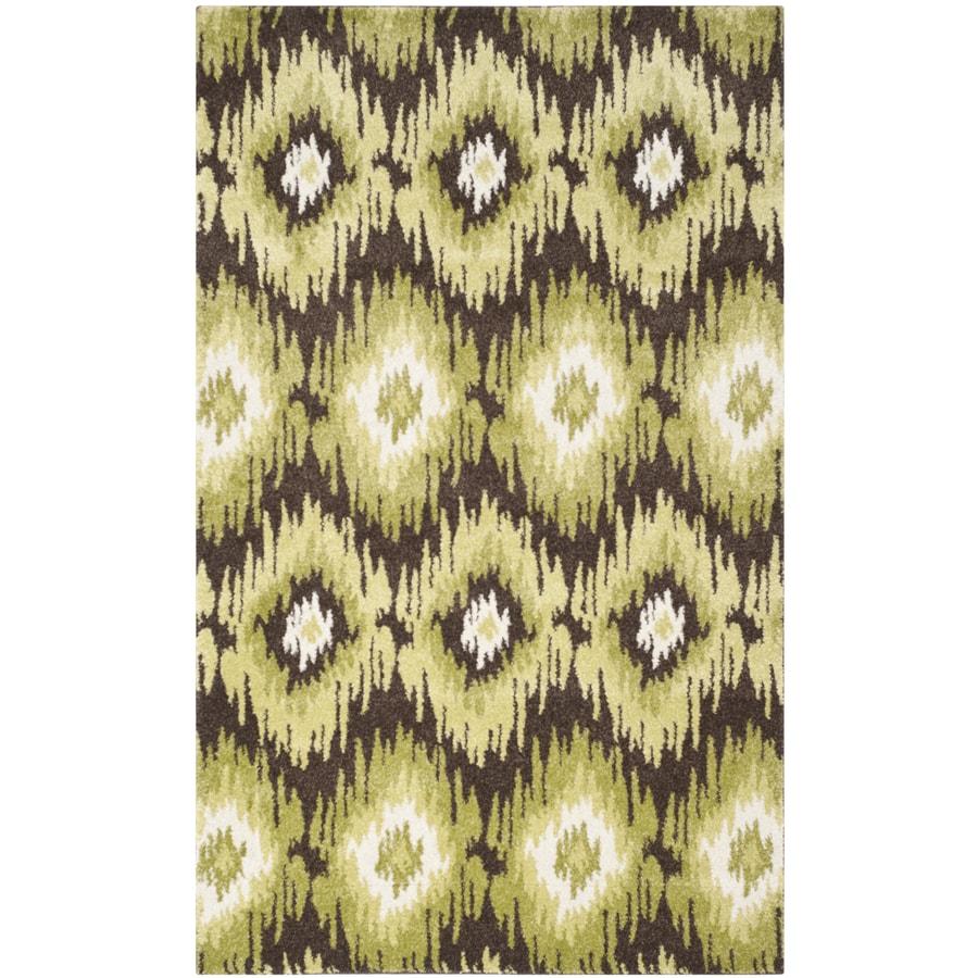 Safavieh Retro Bilson Dark Brown/Green Indoor Lodge Area Rug (Common: 8 x 10; Actual: 8-ft W x 10-ft L)