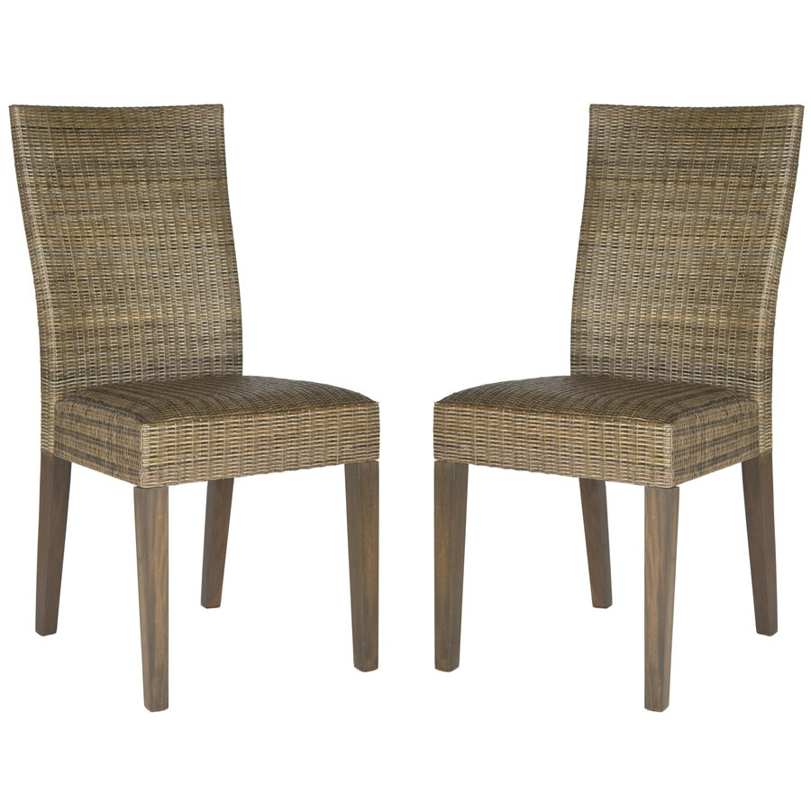 Safavieh Set of 2 Southeast Asia Sepia Grey Side Chairs