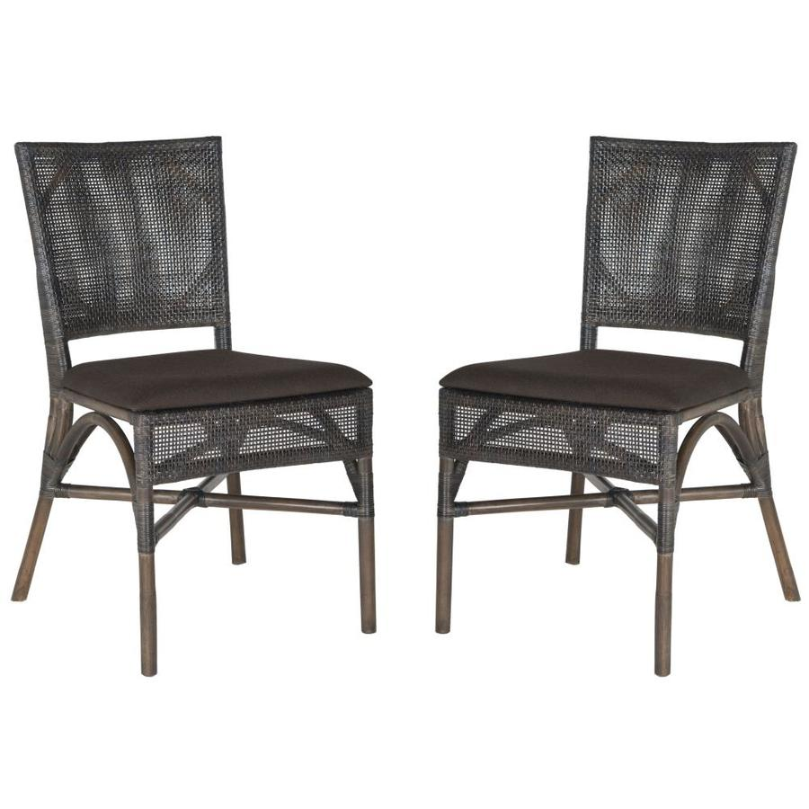 Safavieh Set of 2 Southeast Asia Dark Brown Side Chairs