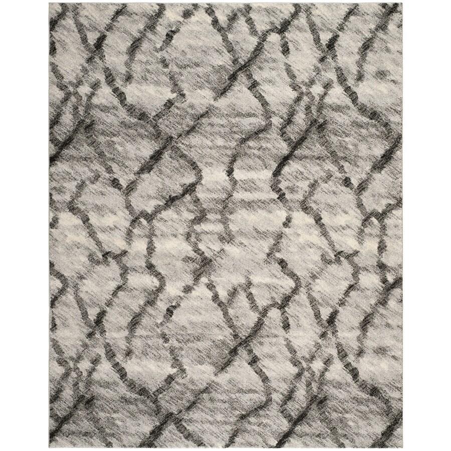 Safavieh Retro Mopani Gray/Black Indoor Distressed Area Rug (Common: 5 x 8; Actual: 5-ft W x 8-ft L)