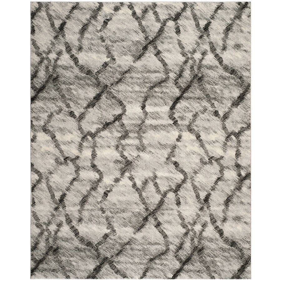 Safavieh Retro Gray/Black Rectangular Indoor Machine-Made Distressed Area Rug (Common: 8 x 10; Actual: 8-ft W x 10-ft L x 0-ft Dia)