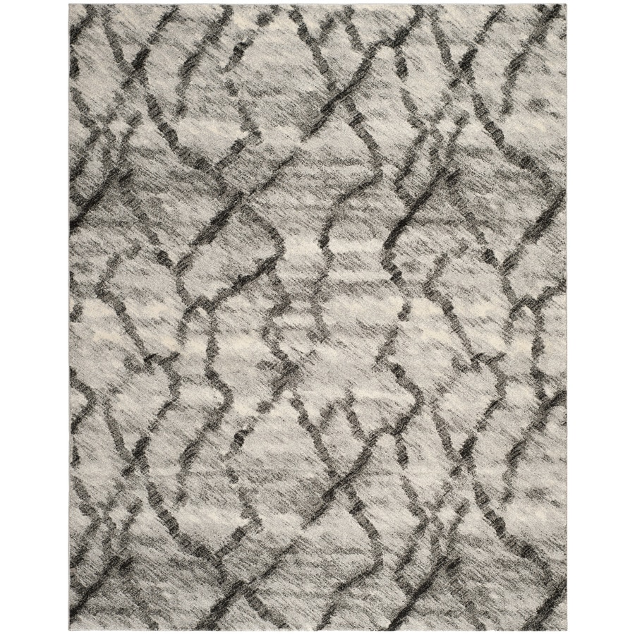 Safavieh Retro Mopani Gray/Black Indoor Distressed Area Rug (Common: 8 x 10; Actual: 8-ft W x 10-ft L)