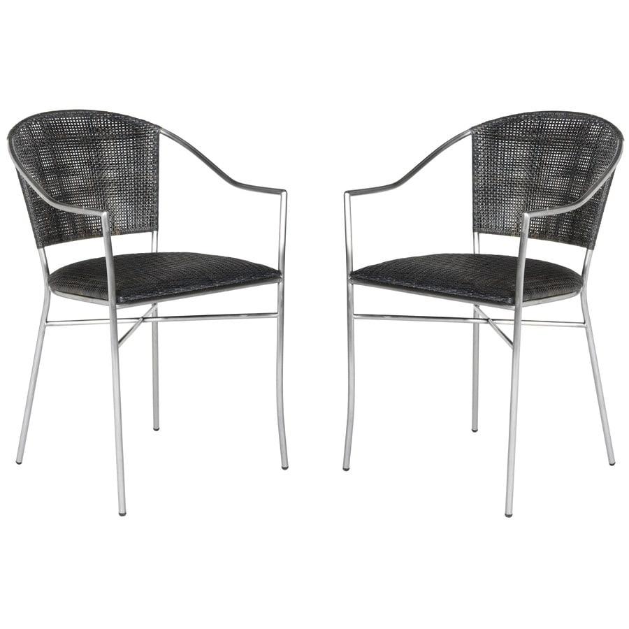Safavieh Set of 2 Melita Contemporary Black Side Chairs