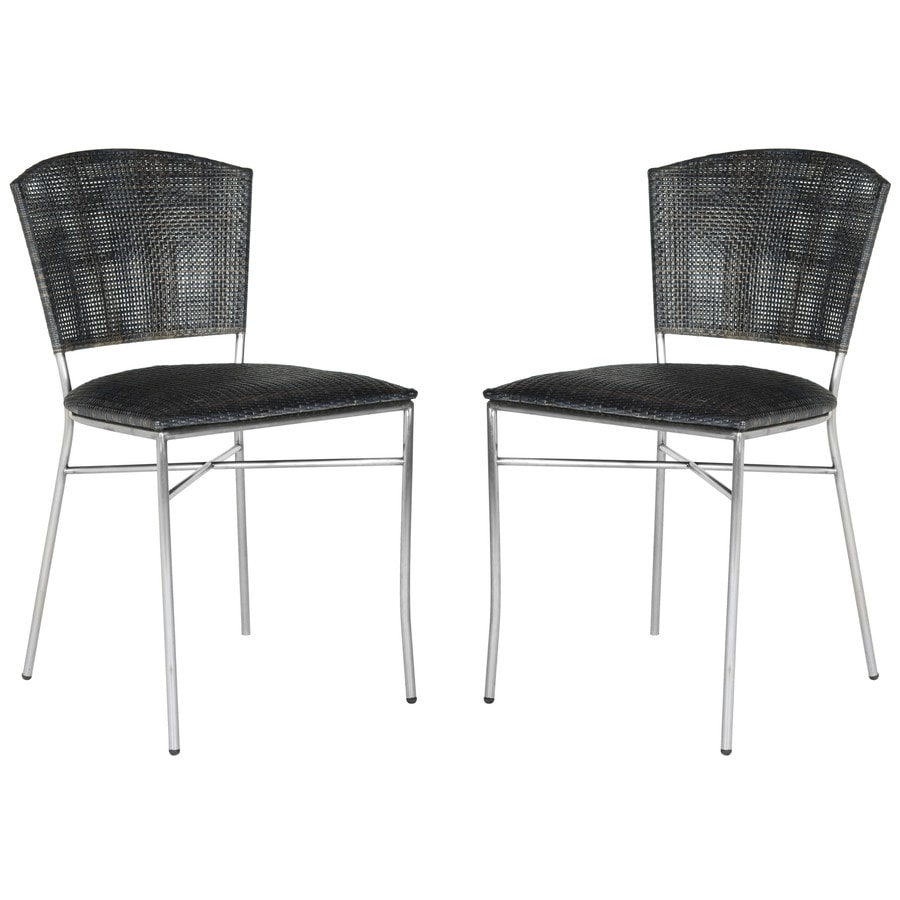 Safavieh Set of 2 Southeast Asia Black Side Chairs