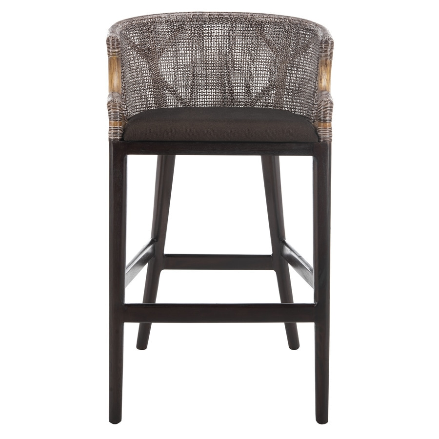 Shop Safavieh Brando Coastal Brown Bar Stool At