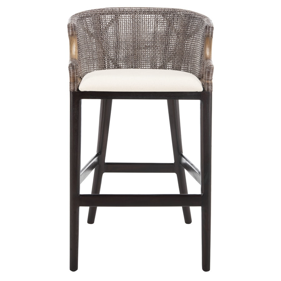Shop Safavieh Brando Coastal BrownWhite Bar Stool at  : 683726343110 from www.lowes.com size 900 x 900 jpeg 97kB