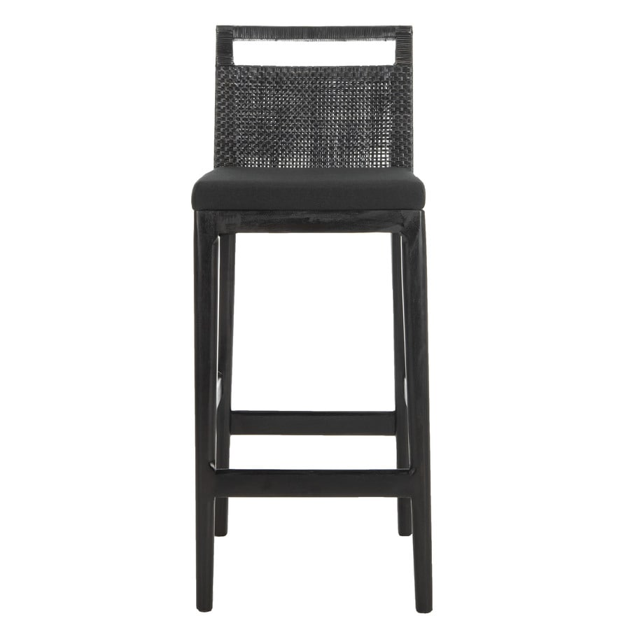 Safavieh Southeast Asia Black 28.75-in Bar Stool (27-in to 35-in)