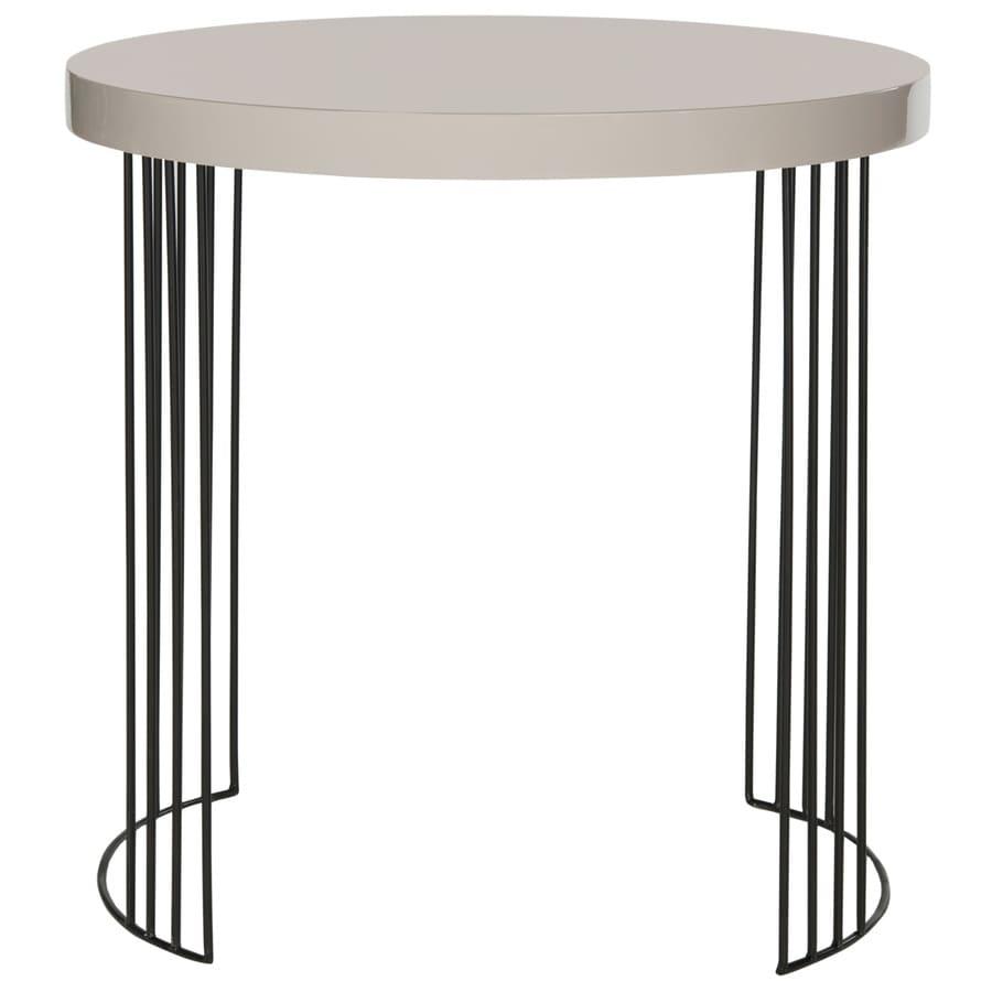 Safavieh Fox Taupe/Black Round End Table