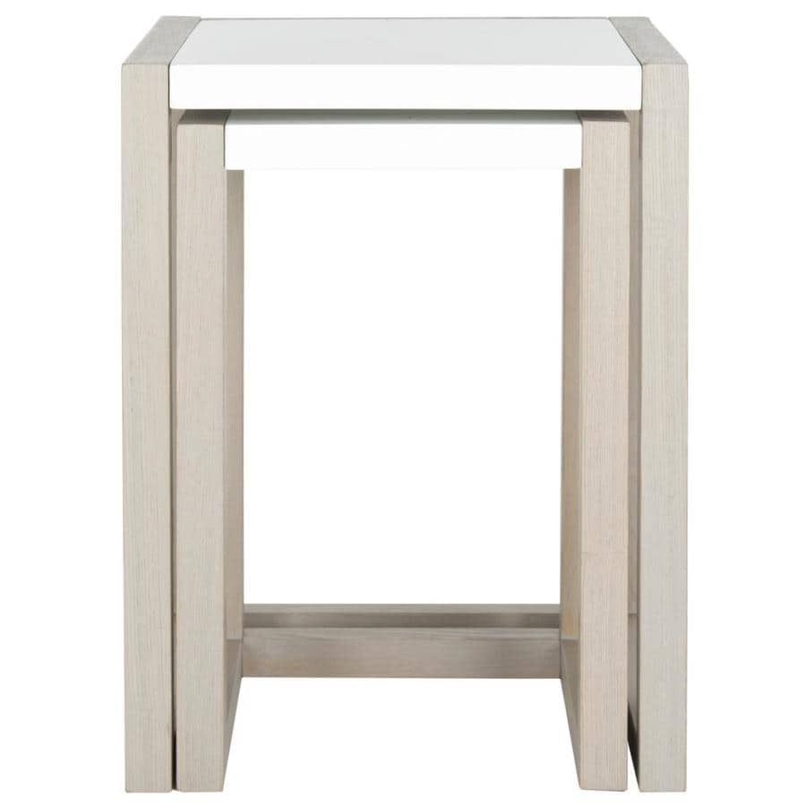 Safavieh Egan White/Gray End Table