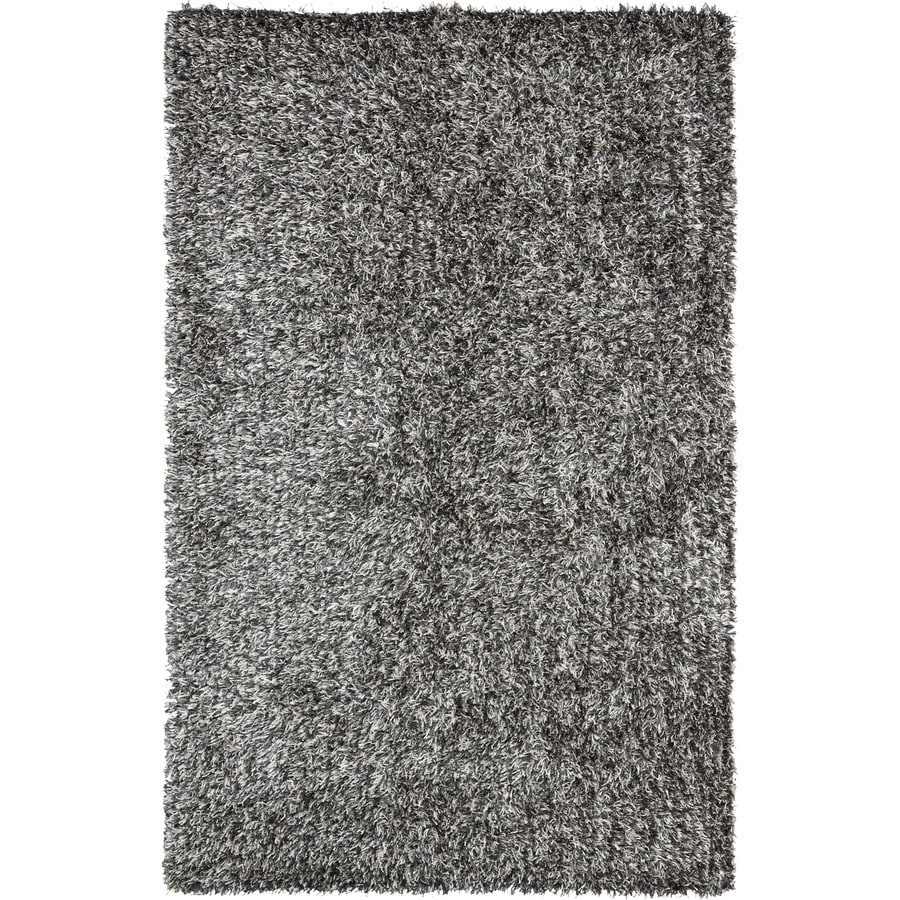 Safavieh New Orleans Shag Platinum/Ivory Handcrafted Area Rug (Common: 9 x 12; Actual: 8.5-ft W x 12-ft L)
