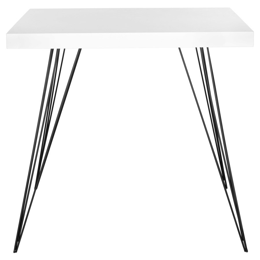 Safavieh Fox White and Black Square End Table