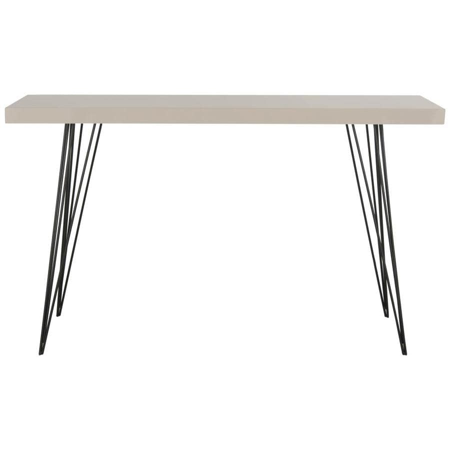 Safavieh Fox Taupe and Black Rectangular Console Table