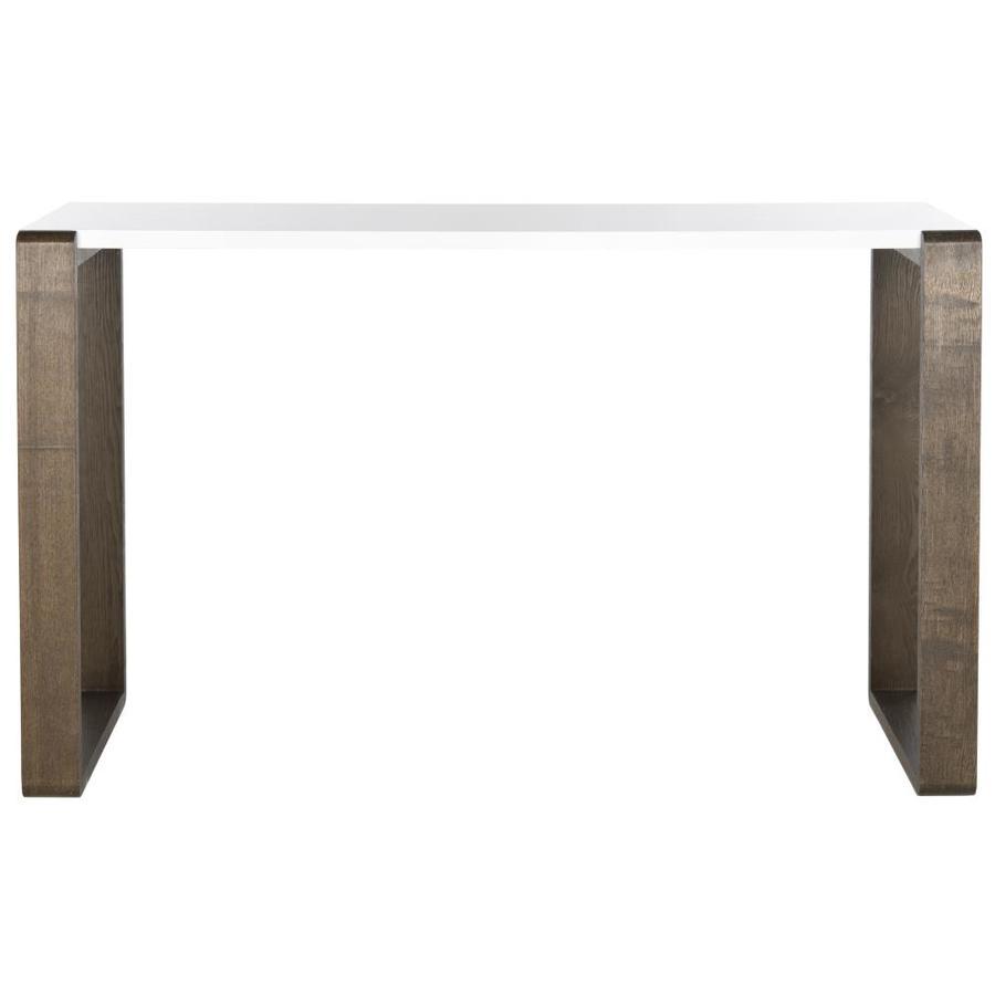 Safavieh Bartholomew White And Dark Brown Rectangular Console Table