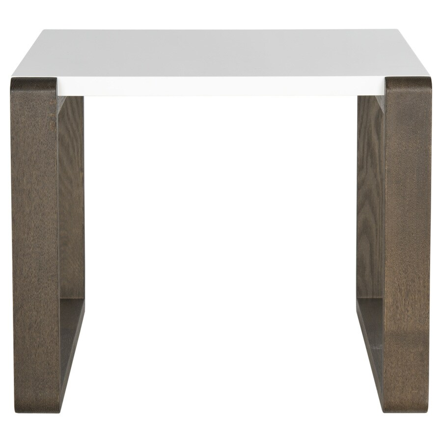 Safavieh Bartholomew White/Dark Brown End Table