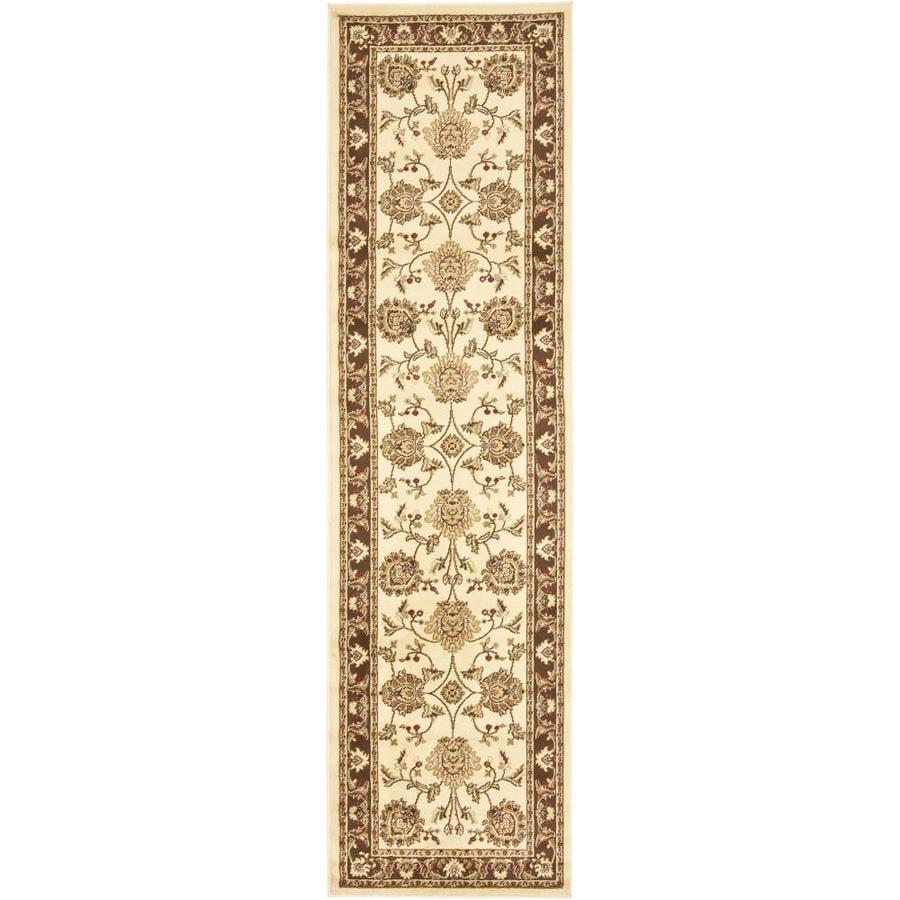 Safavieh Lyndhurst Sultanabad Ivory/Brown Rectangular Indoor  Oriental Runner (Common: 2 x 12; Actual: 2.25-ft W x 12-ft L)