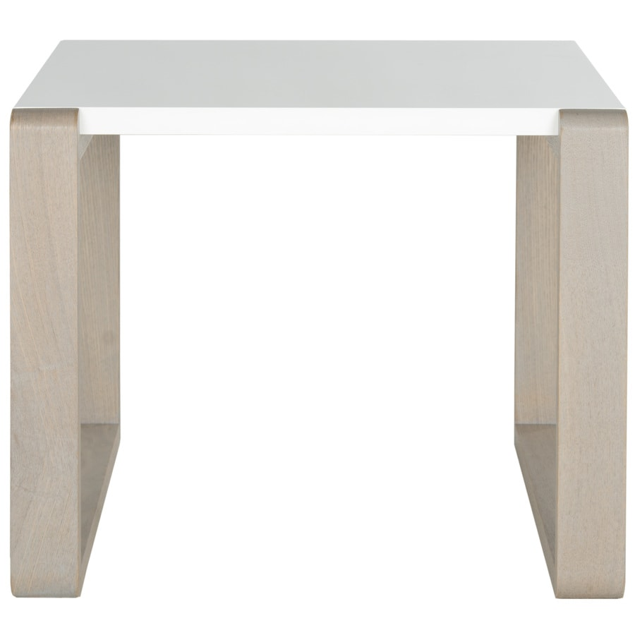 Safavieh Fox White/Gray Rectangular End Table