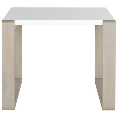 Sensational Safavieh Bartholomew White Gray Wood Modern End Table At Ibusinesslaw Wood Chair Design Ideas Ibusinesslaworg