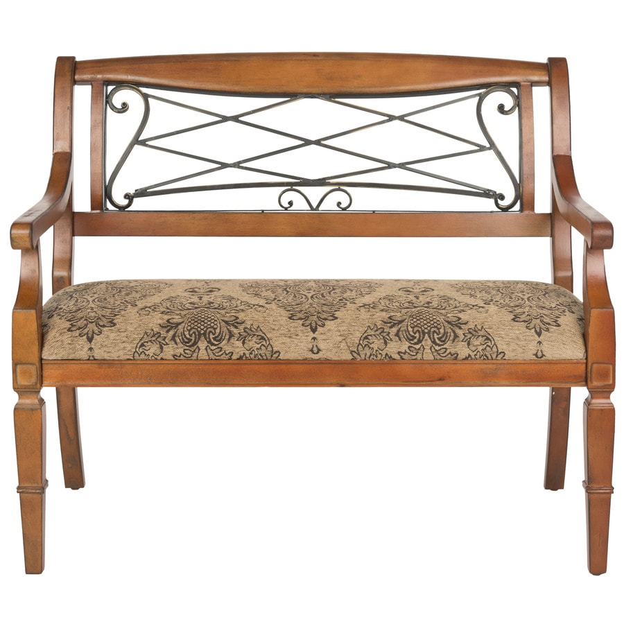 Safavieh American Home Light Brown/Paisley Indoor Accent Bench