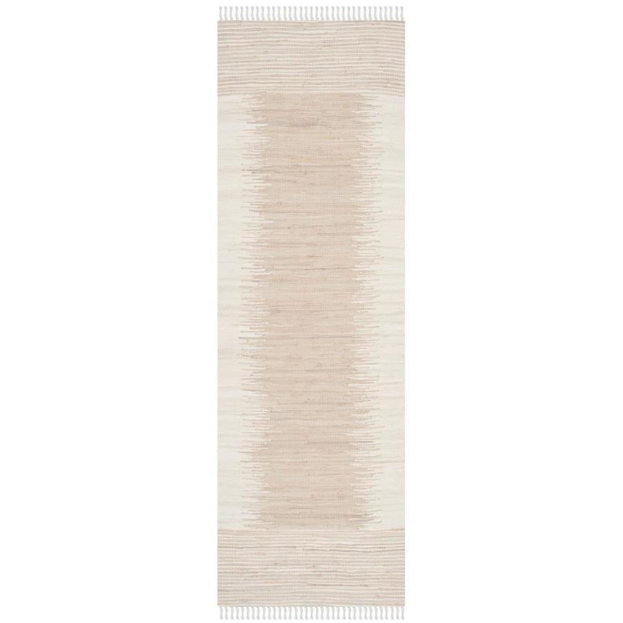 Safavieh Montauk Torrey Beige Rectangular Indoor Handcrafted Coastal Runner (Common: 2 x 7; Actual: 2.3-ft W x 7-ft L)