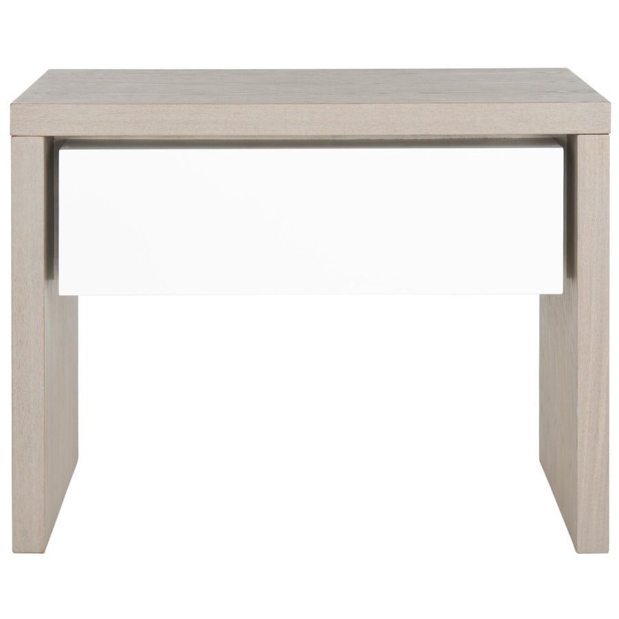 Shop safavieh jonco gray white end table at for White end table