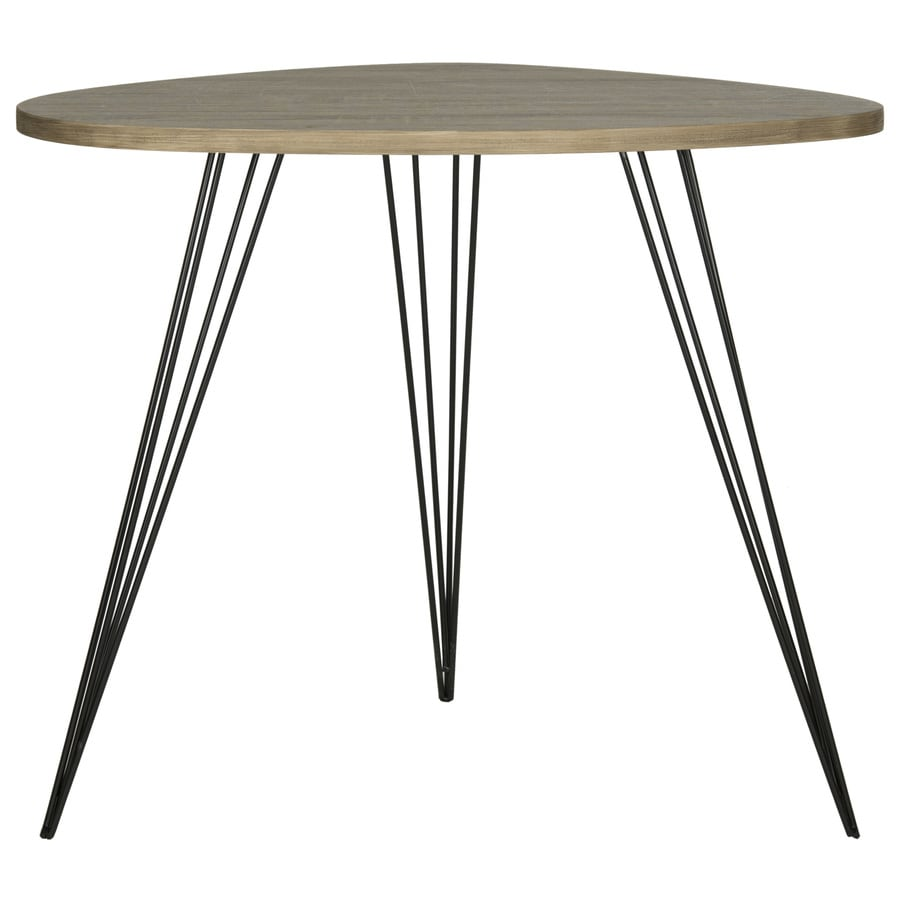 Safavieh Fox Oak/Black Round End Table