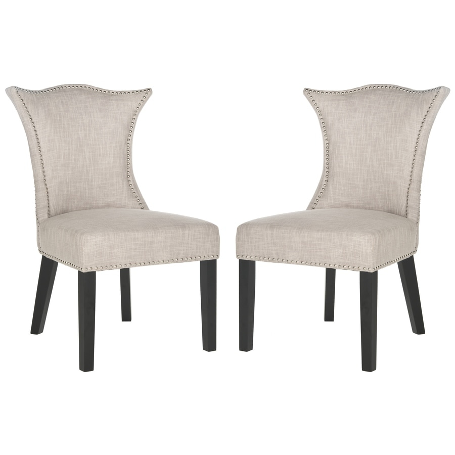 Safavieh Set of 2 Mercer Grey Side Chairs