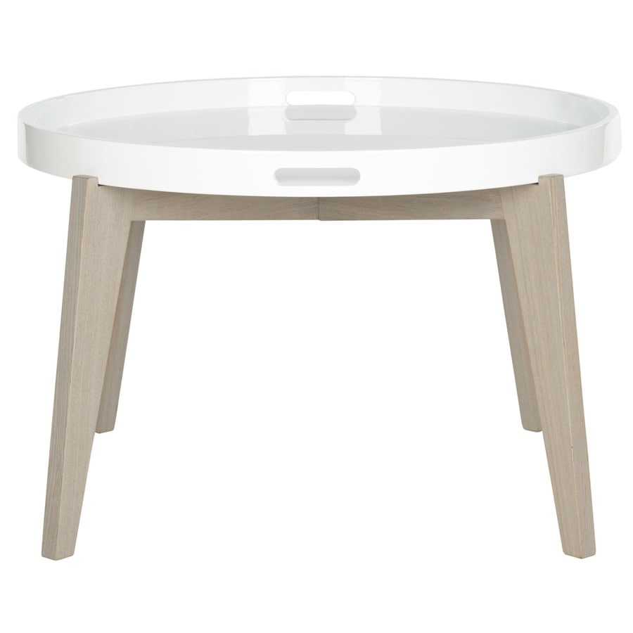 Safavieh Fox White and Grey Round End Table