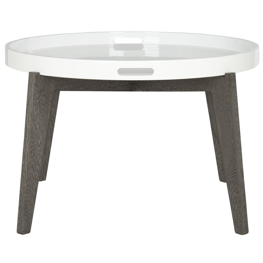 Safavieh Fox White and Dark Brown Round End Table