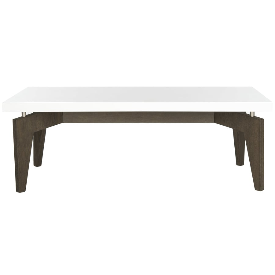 Safavieh Fox White/Dark Brown Rectangular End Table