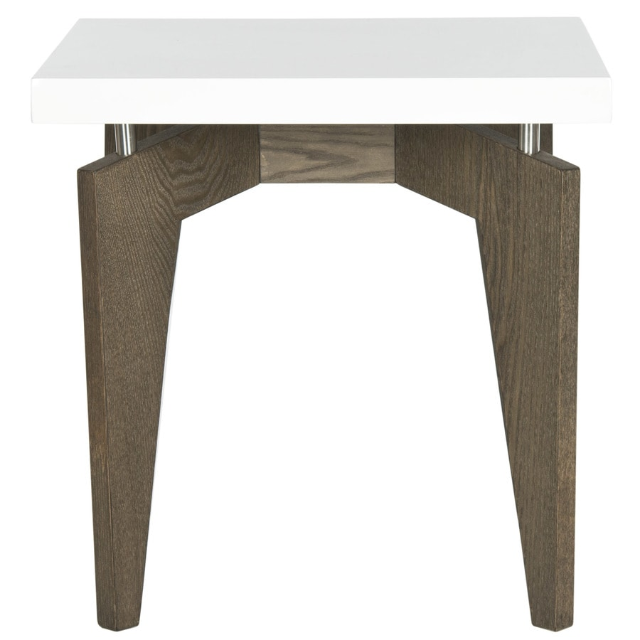Safavieh Fox White and Dark Brown Square End Table