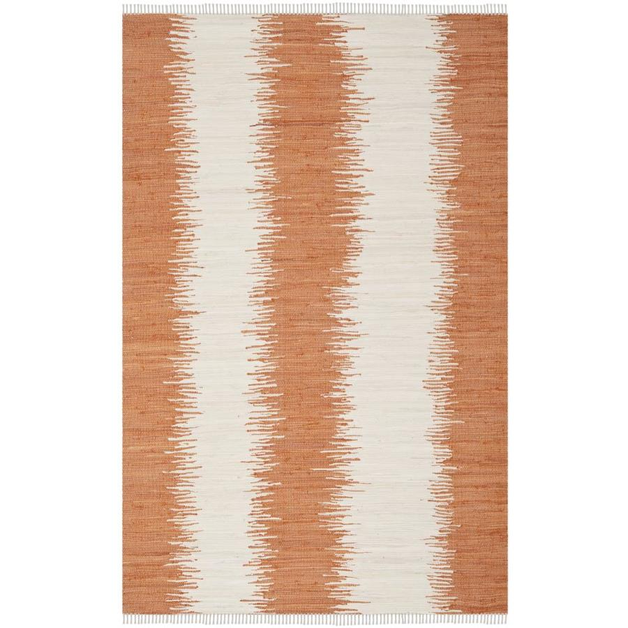 Safavieh Montauk Morro Orange Rectangular Indoor Handcrafted Coastal Area Rug (Common: 8 x 10; Actual: 8-ft W x 10-ft L)