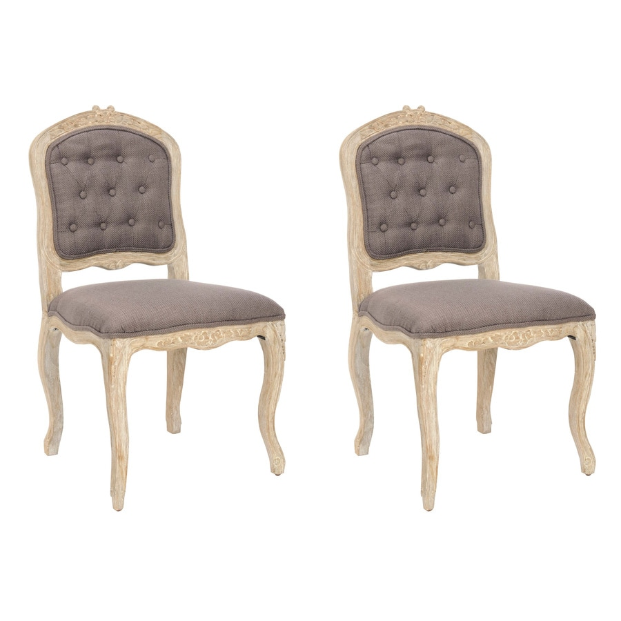 Safavieh Set of 2 Mercer Light Brown Side Chairs