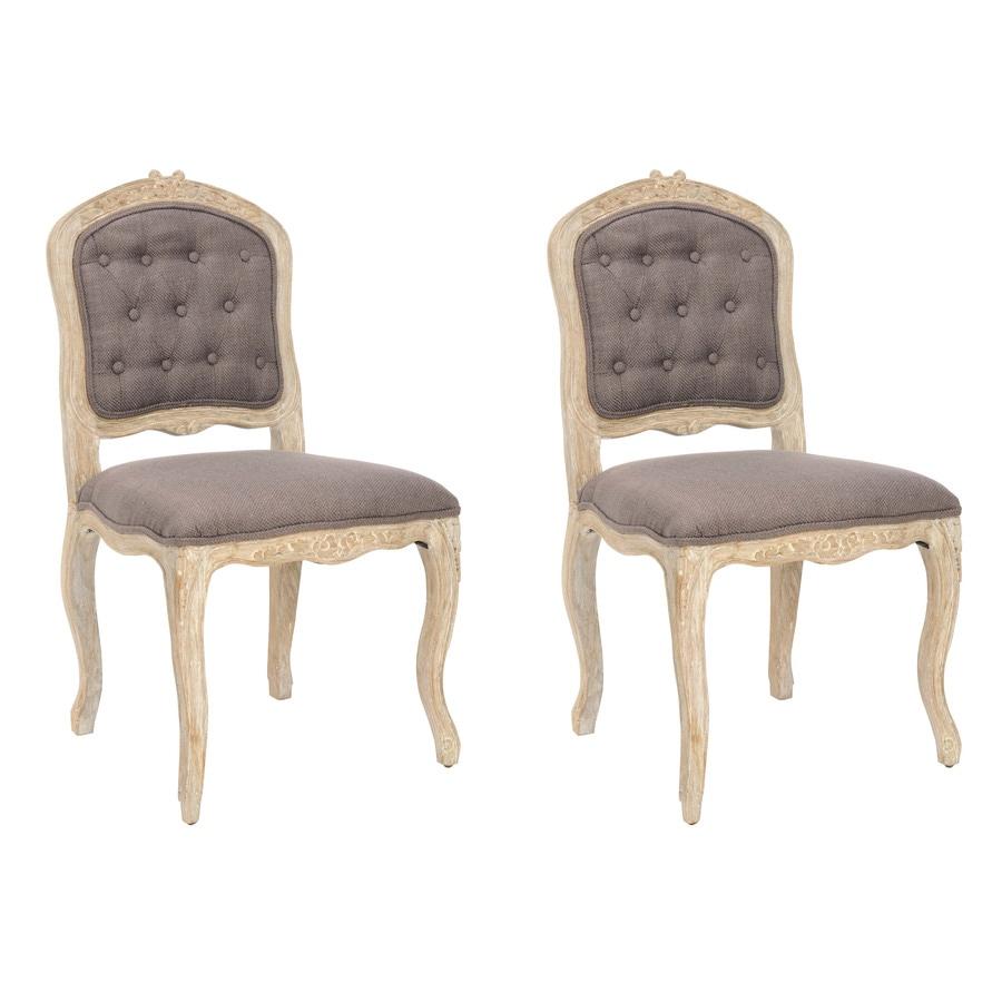 Safavieh Set of 2 Mercer Light Brown Side Chairs