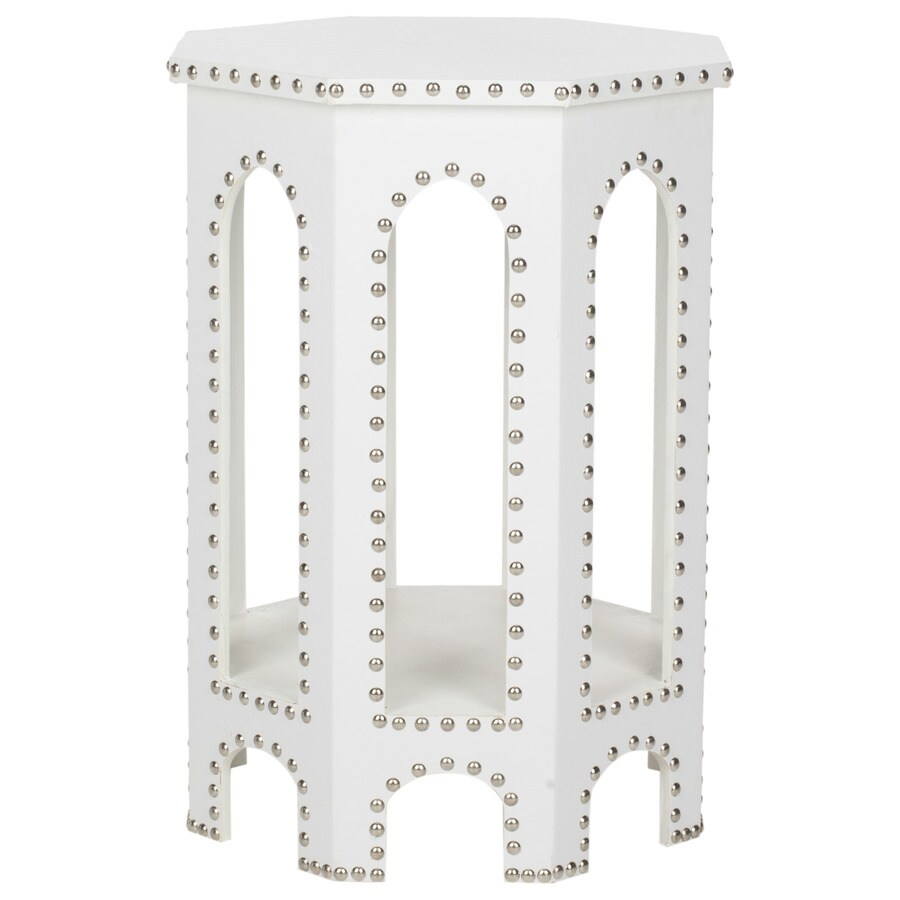 Safavieh Nara White Croc End Table