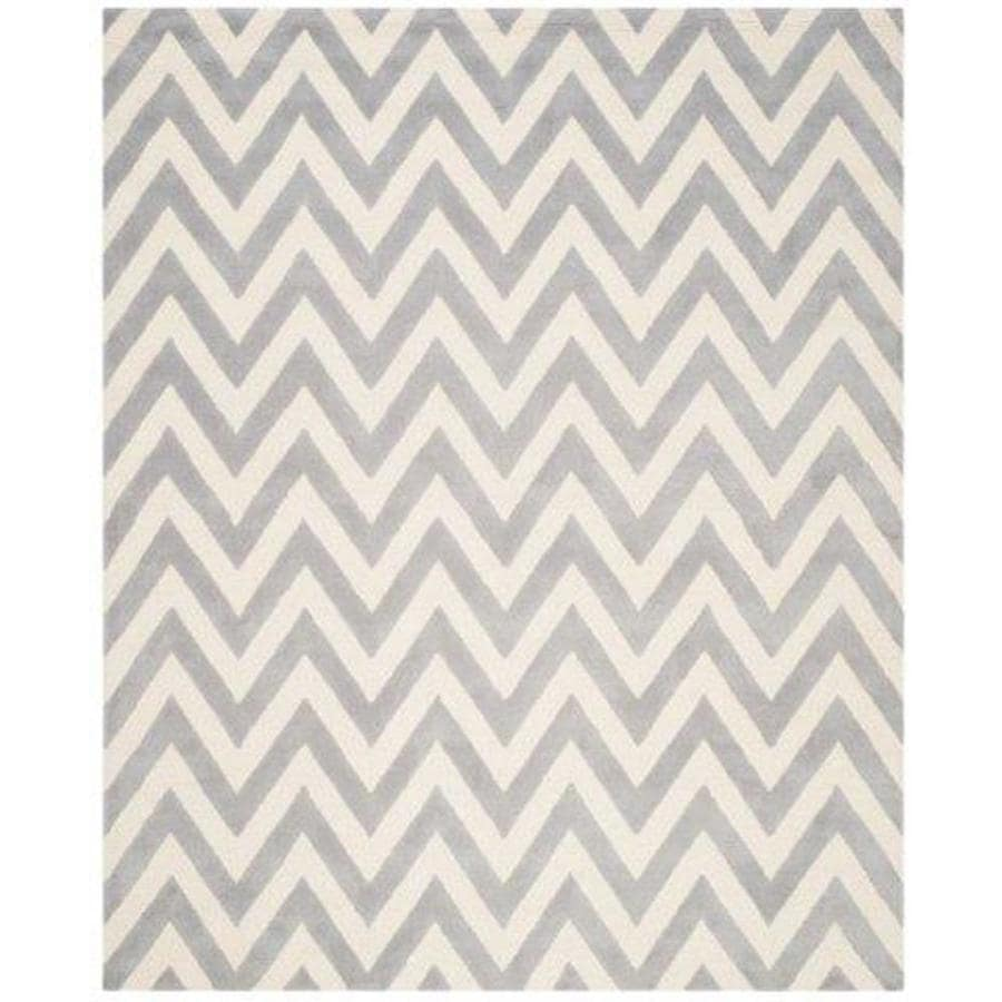 Safavieh Cambridge Silver/Ivory Rectangular Indoor Tufted Moroccan Area Rug (Common: 7 x 9; Actual: 7.5-ft W x 9.5-ft L)