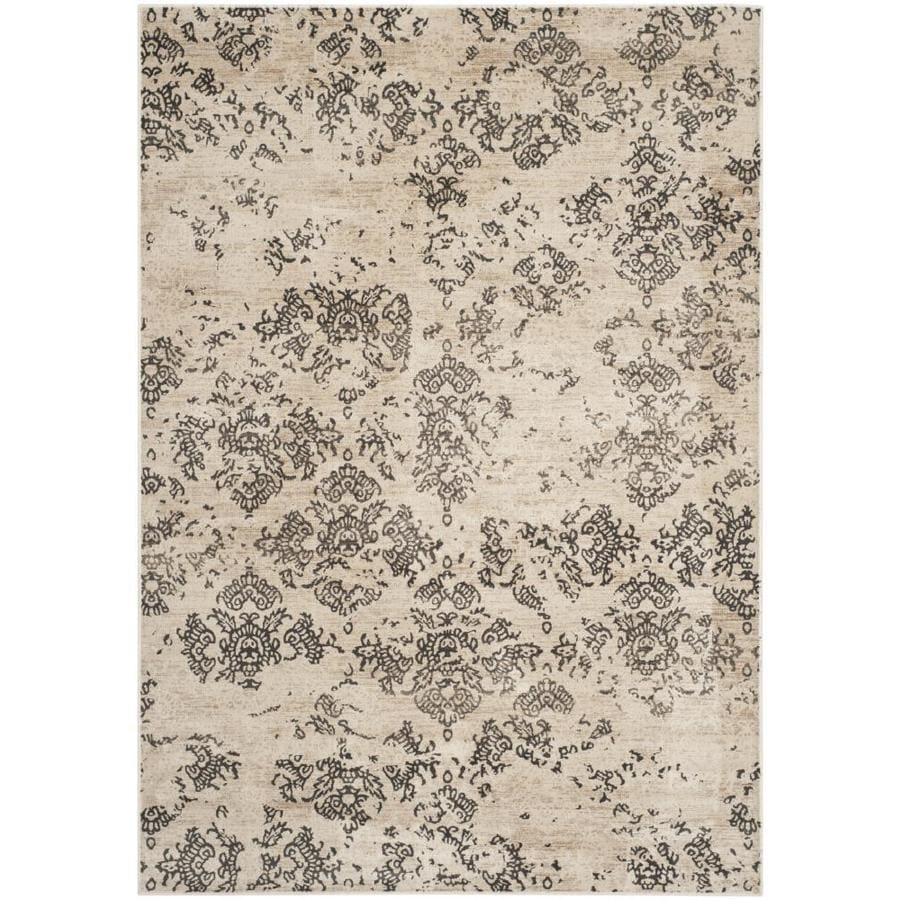 Safavieh Vintage Damask Stone Rectangular Indoor Machine-made Distressed Area Rug (Common: 5 x 7; Actual: 5.25-ft W x 7.5-ft L)