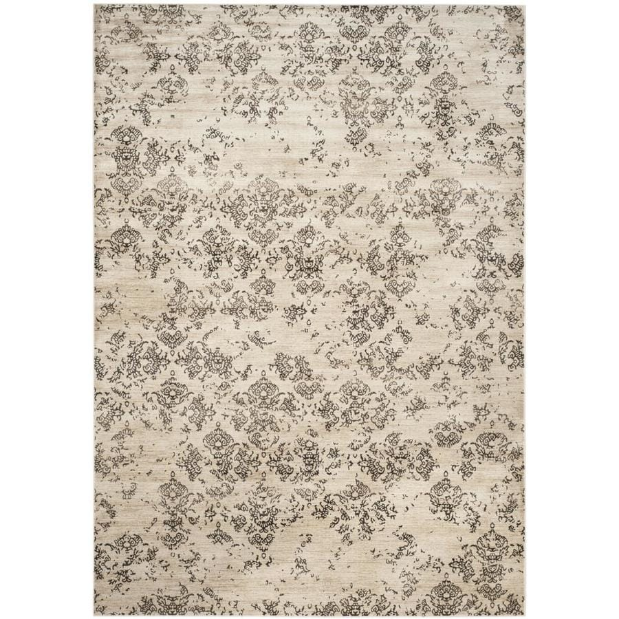 Safavieh Vintage Damask Stone Rectangular Indoor Machine-made Distressed Area Rug (Common: 6 x 9; Actual: 6.6-ft W x 9.2-ft L)
