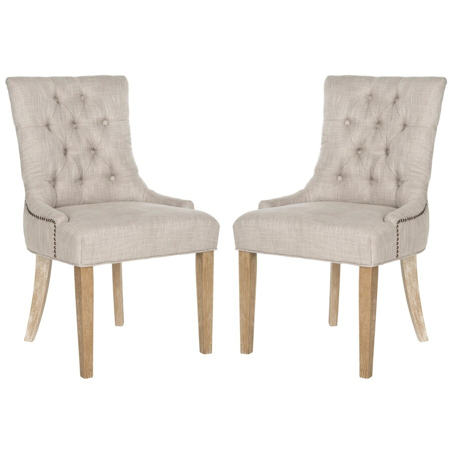 Safavieh Set of 2 Abby Gray Side Chair