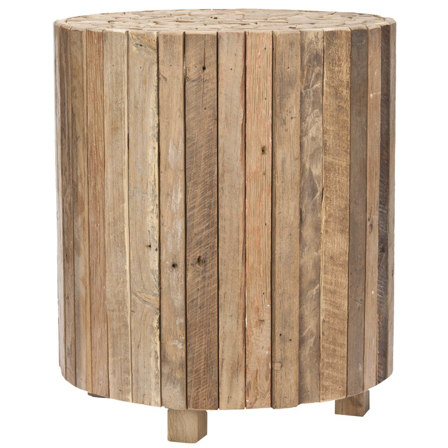 Safavieh richmond medium oak wood modern end table