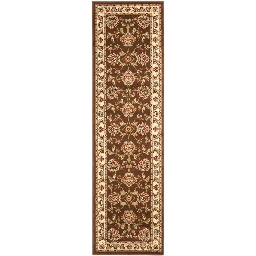 Safavieh Lyndhurst Sultanabad Brown/Ivory Rectangular Indoor Machine-made Oriental Runner (Common: 2 x 12; Actual: 2.25-ft W x 12-ft L)