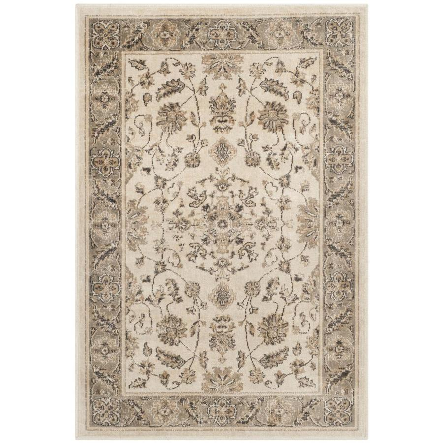 Safavieh Vintage Kashan Stone/Mouse Rectangular Indoor Machine-made Distressed Throw Rug (Common: 2 x 4; Actual: 2.6-ft W x 4-ft L)