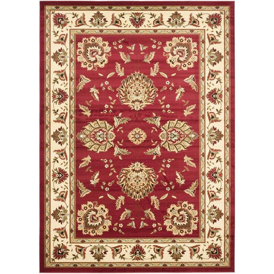 Safavieh Lyndhurst Red and Ivory Rectangular Indoor Machine-Made Area Rug (Common: 6 x 9; Actual: 79-in W x 114-in L x 0.67-ft Dia)