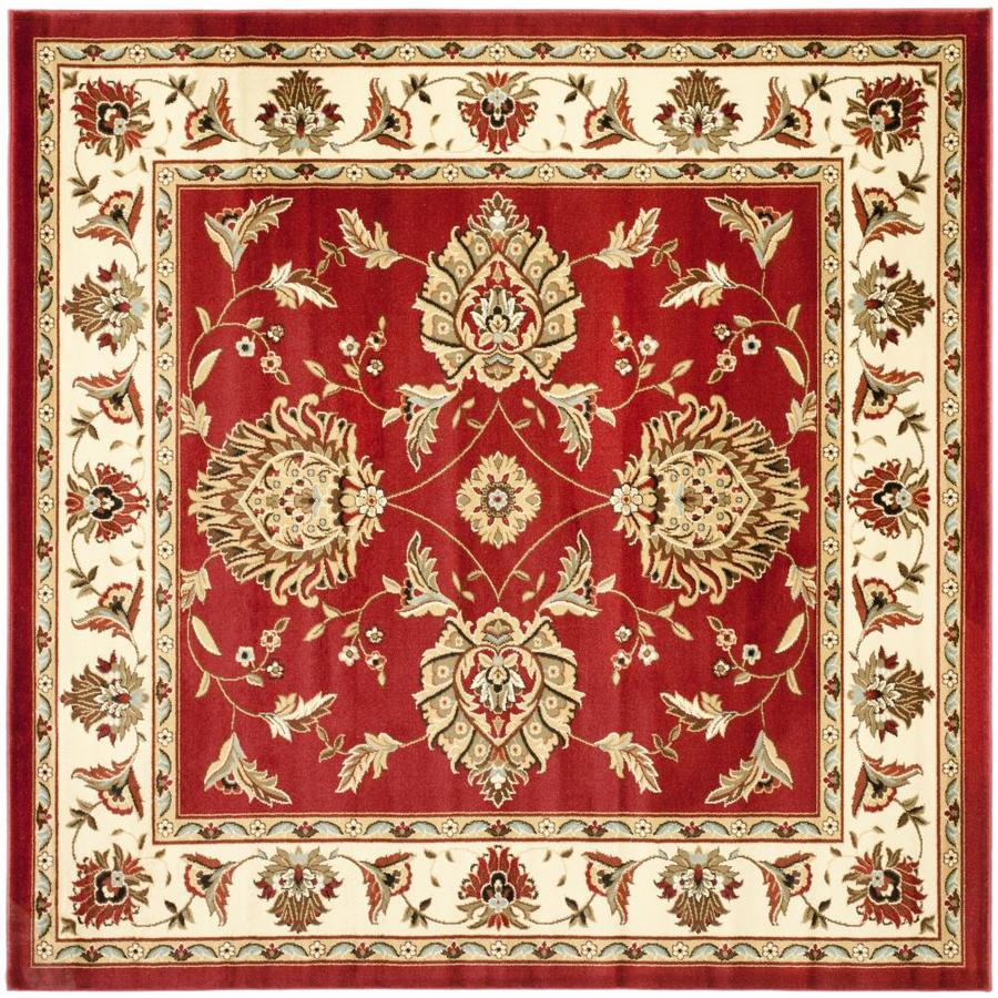 Safavieh Lyndhurst Sultanabad Red/Ivory Square Indoor Machine-made Oriental Area Rug (Common: 6 x 6; Actual: 6.583-ft W x 6.583-ft L)