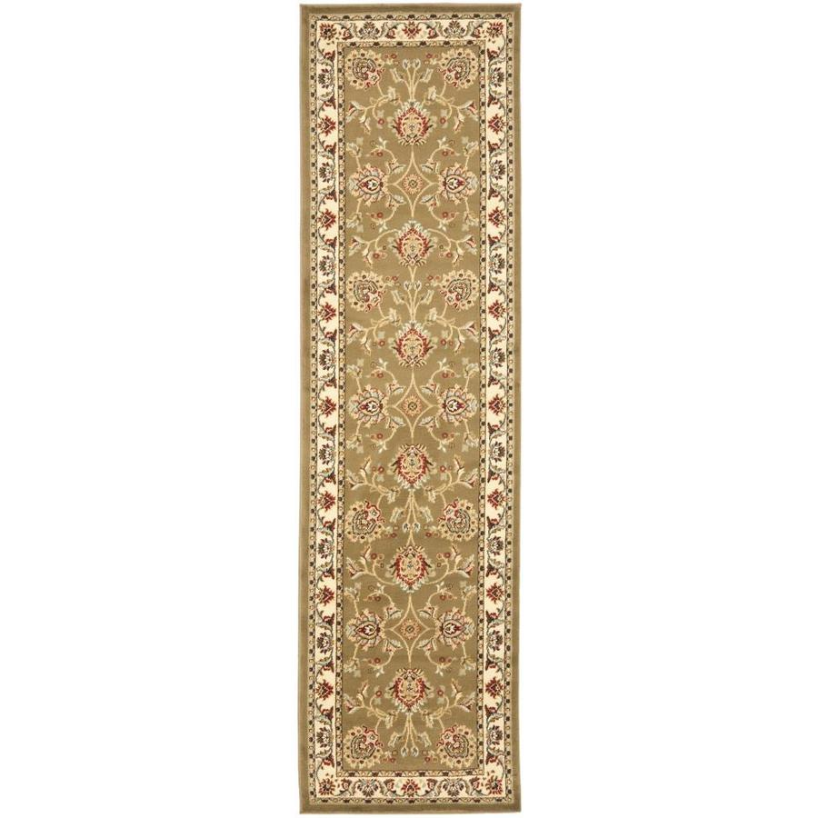 Safavieh Lyndhurst Sultanabad Green/Ivory Indoor Oriental Runner (Common: 2 x 16; Actual: 2.25-ft W x 16-ft L)