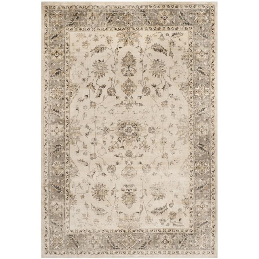 Safavieh Vintage Kashan Stone/Mouse Rectangular Indoor Machine-made Distressed Area Rug (Common: 5 x 7; Actual: 5.25-ft W x 7.5-ft L)