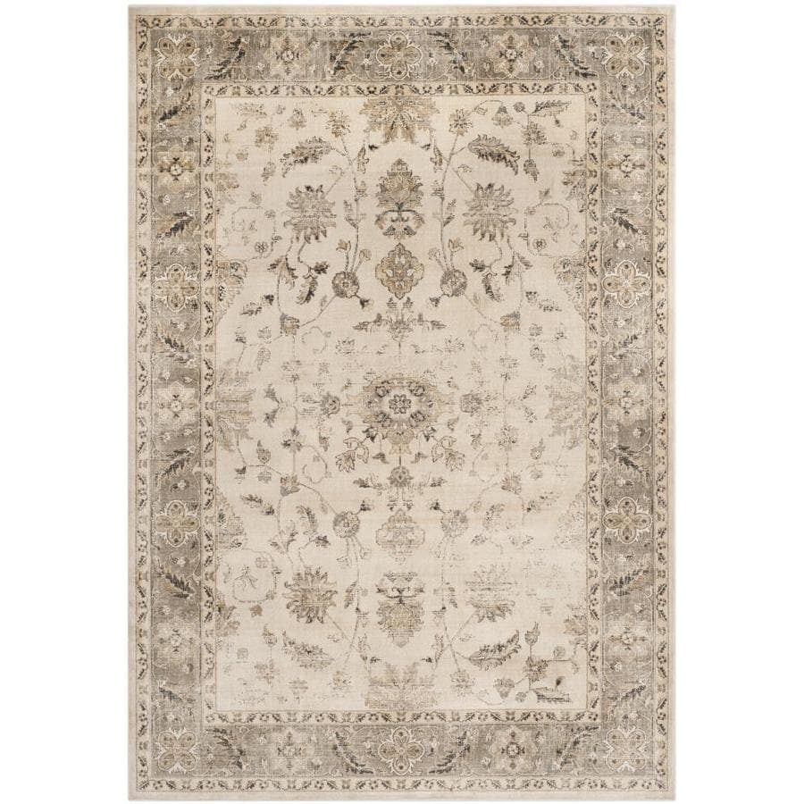 Safavieh Vintage Kashan Stone/Mouse Rectangular Indoor Machine-made Distressed Area Rug (Common: 8 x 11; Actual: 8-ft W x 11.2-ft L)