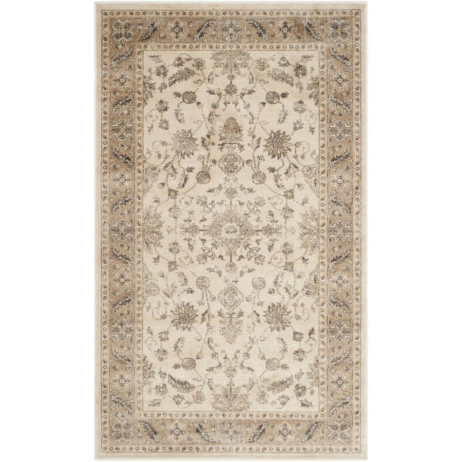 Safavieh Vintage Stone/Caramel Rectangular Indoor Machine-Made Distressed Throw Rug (Common: 2 x 4; Actual: 2.583-ft W x 4-ft L)