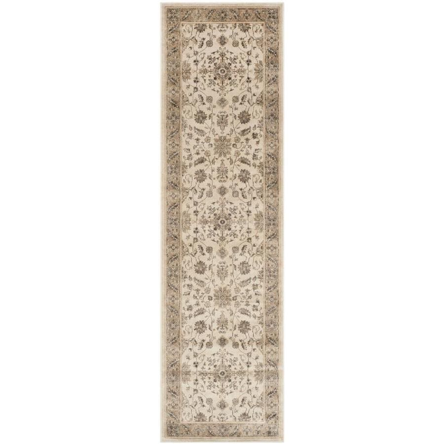 Safavieh Vintage Kashan Stone/Caramel Indoor Distressed Runner (Common: 2 x 8; Actual: 2.2-ft W x 8-ft L)